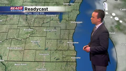 Another round of light snow and mix arrives late Monday night