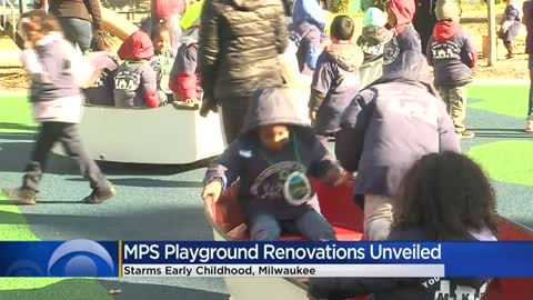 Starms Early Childhood Center unveils new playground promoting healthy lifestyles