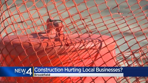 Local businesses concerned as construction begins on North Ave....
