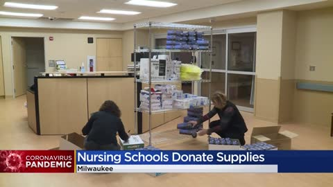 Local nursing schools donate supplies, personal protective equipment to area hospitals