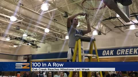 Oak Creek girls basketball team celebrates 100 straight conference wins