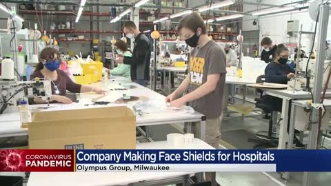 Local company known for making mascots switches production line...