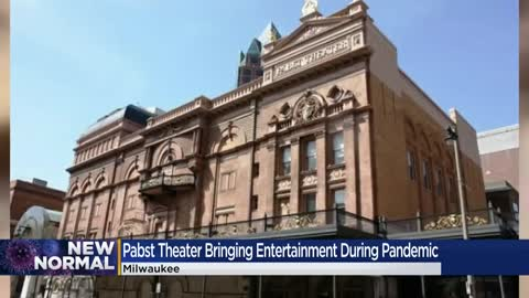The Pabst Theater finds new ways to entertain the crowd during...
