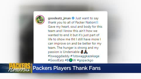 Packers players react to season ending, thank fans