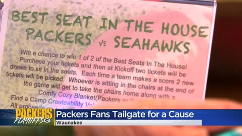 Packers fans host watch party for a cause