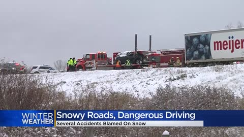 'It was crazy:' Wintry weather causes dangerous conditions for drivers in SE Wisconsin