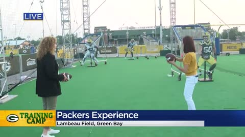 Fan activities during Packers Training Camp 2019