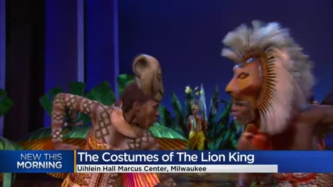 Theatrical production of 'The Lion King' now playing at Milwaukee...