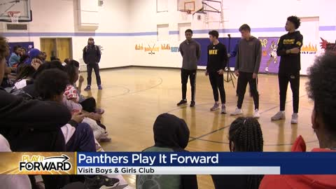 Panthers' Jamar Madge, teammates visit Boys & Girls Club