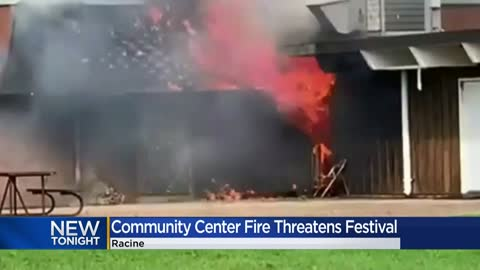 Racine fire caused by unattended cooking damages community center, hurts firefighter