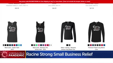'Racine Strong' t-shirts, gear raising money for small business fund