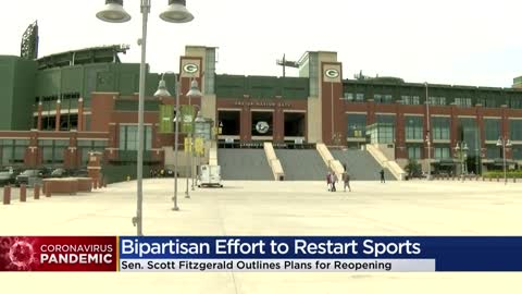 State leaders work with Wisconsin pro sports teams on reopening...