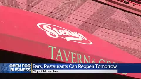 Milwaukee bars and restaurants can reopen at 25% capacity Friday,...
