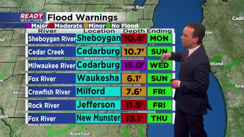 River flooding continues as snowmelt in northern Wisconsin travels south