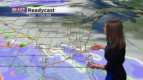 Light snow expected Sunday evening