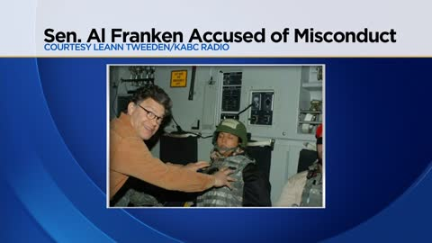Al Franken accused of groping and kissing woman while on USO Tour