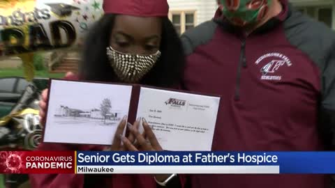 Menomonee Falls HS graduate shares special ceremony with father in hospice care