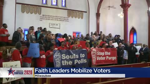 Souls to the Polls holds rally encouraging people to vote ahead...