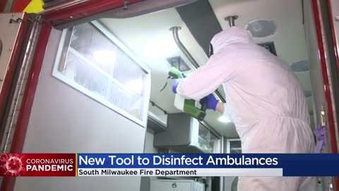 South Milwaukee Fire Department using school district's device to disinfect ambulances