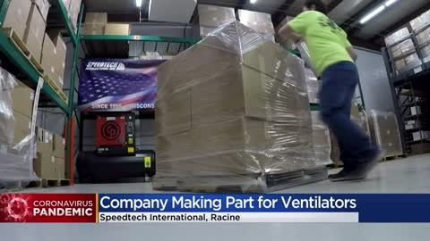 Racine company manufacturing parts for GM's ventilators