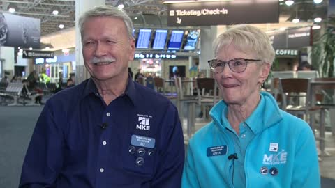 Retired couple's love takes flight at Mitchell International Airport