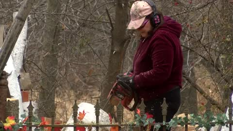 "The ""chain saw chick"" of Caledonia explains her craft"