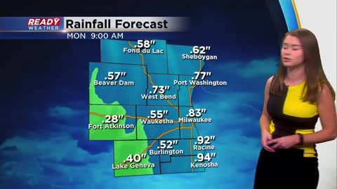 Another round of rain tonight before some accumulating snow Monday night