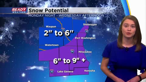 Slow moving winter storm to impact area late Monday night through...