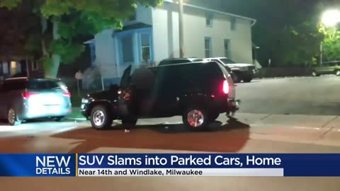'My porch was all smashed in:' Video captures hit-and-run crash on Milwaukee's south side