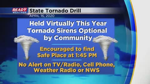 Virtual tornado drill day during Severe Weather Awareness Week