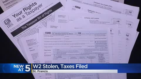 W-2 form stolen from man in St. Francis and his taxes filed; experts warn of scams