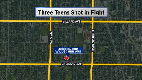 Milwaukee Police: 3 teenagers shot during a fight near 48th and Hampton