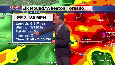 Tuesday tornado near Eau Claire confirmed as EF-3 with 150 mph wind