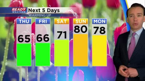 First 80 degree day of the year on the way for Memorial Day weekend