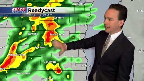 Soaking rain Thursday with scattered storms