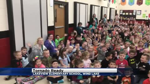 Tornado Ready at Lakeview Elementary in Wind Lake
