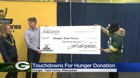 Packers' touchdowns score $37K in donations from Sargento benefiting Hunger Task Force