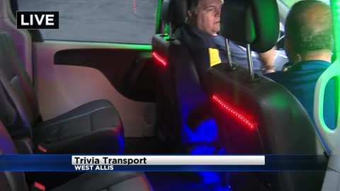 "Get a ride with ""Trivia Transport"" to win 100 Grand!"