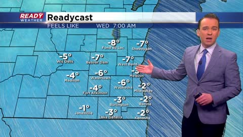 Shock to the system: Wind chills go sub-zero Wednesday morning