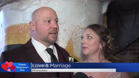 Milwaukee-area couples tie the knot at the courthouse, brewery on Valentine's Day