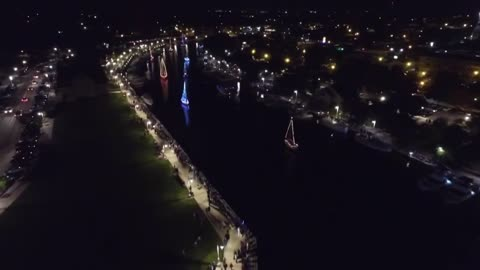 Sheboygan's Riverfront Lights up w/the Venetian Boat Parade