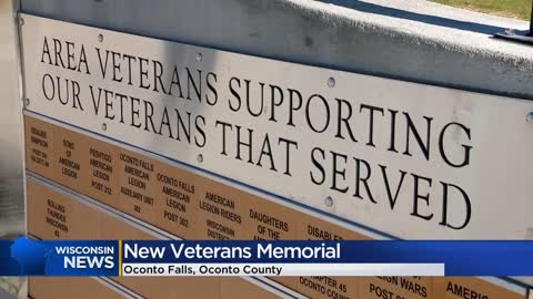 """Never forget why we're here:"" New veterans monument unveiled in Oconto Falls"