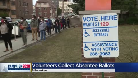 'Their voice still matters:' Volunteers help pick up absentee ballots for people