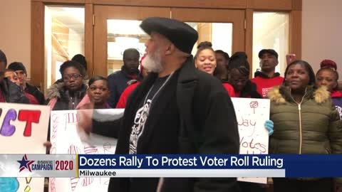 Voters hold rally protesting purged registrations