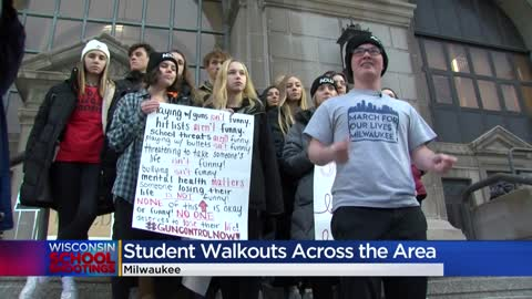 'Tired of seeing it:' Students speak out against gun violence at Milwaukee County Courthouse