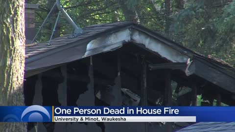 1 person dead in Waukesha house fire near University and Minot