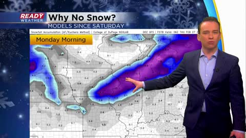 Why did the snow forecast change so drastically?