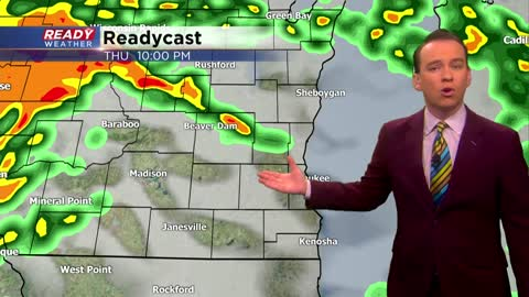 Wintry mix Wednesday, thunderstorm chance Thursday