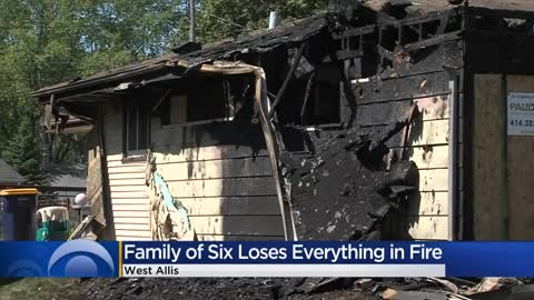 'Hoping to help:' Neighbors and church step in to help family of six after fire destroys West Allis home