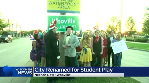Neenah transforms into 'Whoville' to promote high school production of Seussical the Musical
